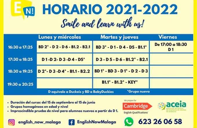 horario 2021-2022
